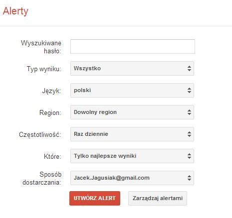 Google Alerts na sterydach. Teraz można określić język i region!