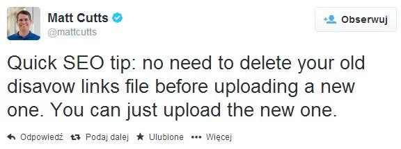 Nie usuwaj starego pliku Disavov przed wgraniem nowej wersji!