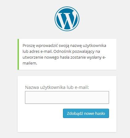 Jak odzyskać utracone hasło do WordPressa?