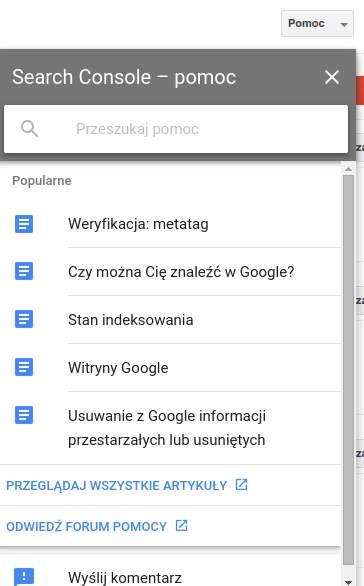 Search Console – pomoc, czyli Google nareszcie pomaga, nie tylko szkodzi użytkownikom