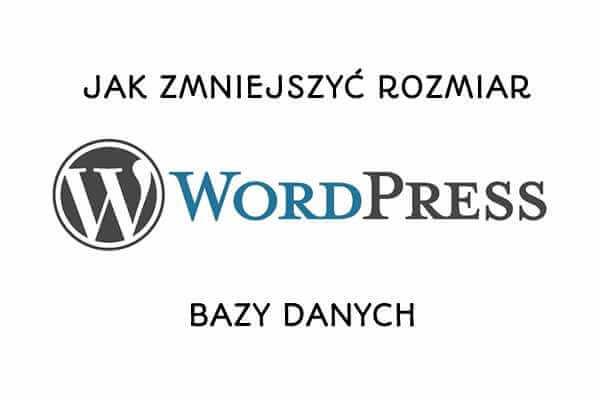 [WordPress] Jak znacząco zmniejszyć i zoptymalizować bazę danych?